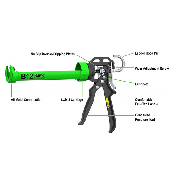 Albion 10oz B-Line Manual Cartridge Gun