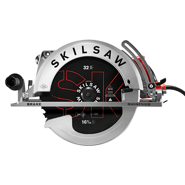"""SKIL 16-5/16"""" Magnesium Worm Drive Skilsaw Front"""