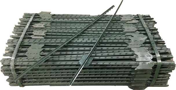 Green Studded Steel T-Post - 5'