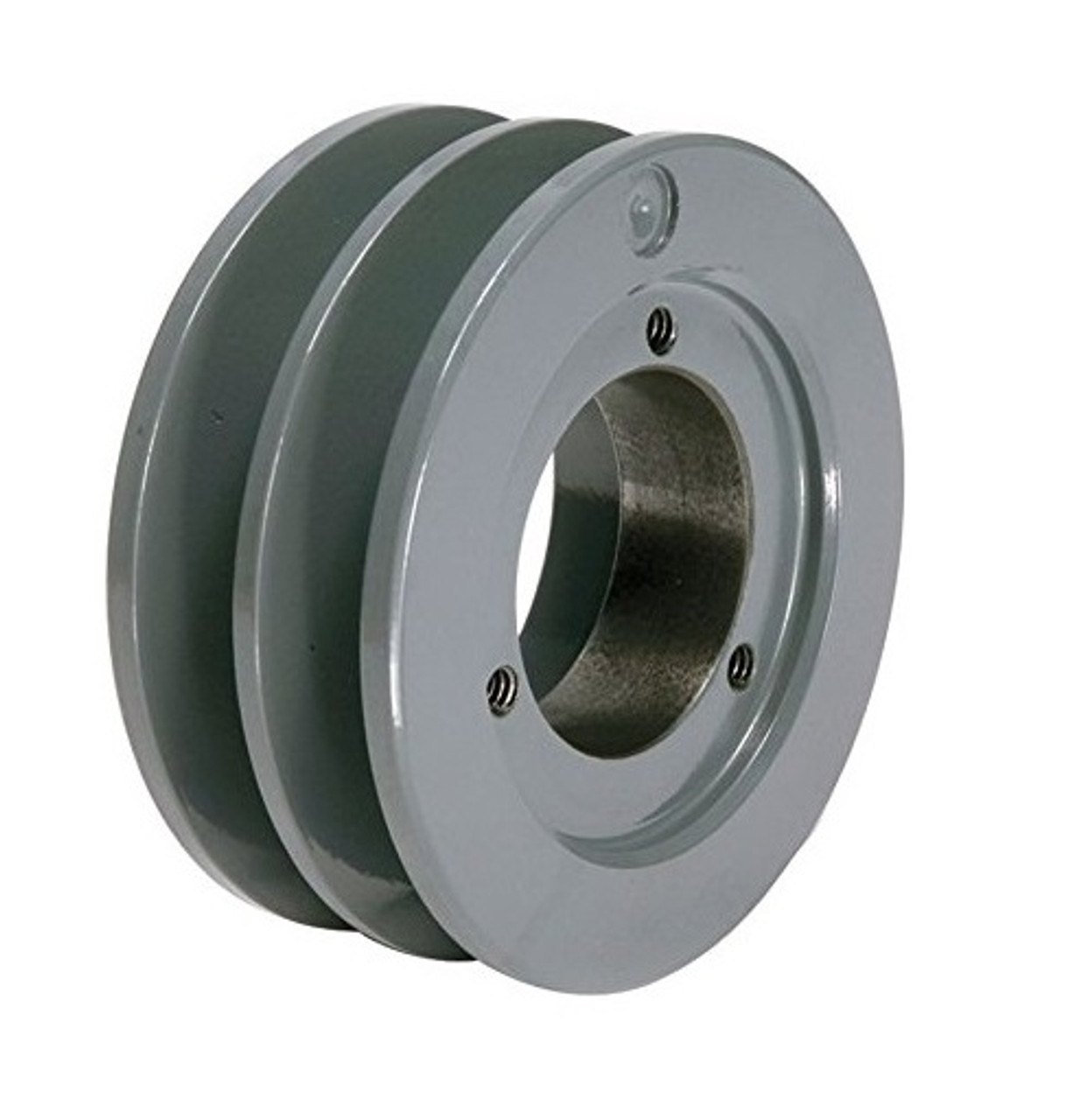 Cast Iron 4.75 2 Groove Dual Belt A Section 4L Pulley with 7//8 Sheave Bushing