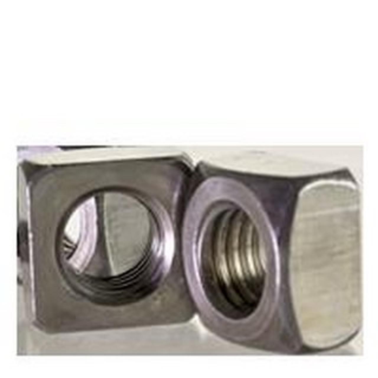 Grade 2 Steel Quantity: 2500 Plain 5//16-18 Square Nuts