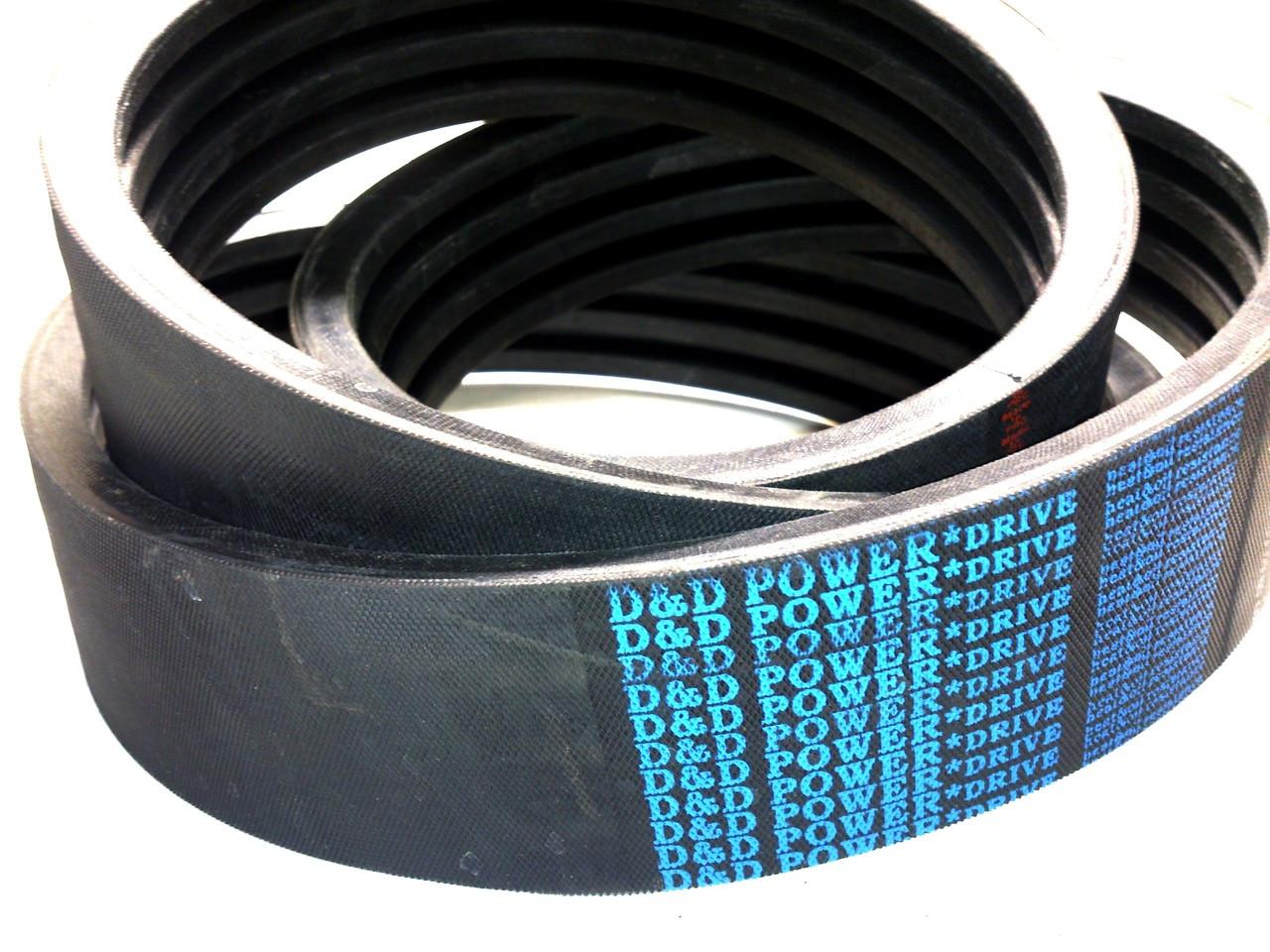 D/&D PowerDrive 5//8V1250 Banded V Belt 5 Number of Band Rubber