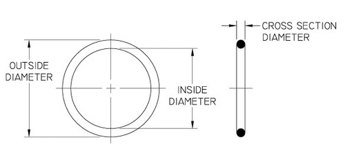Black 9-1//8 OD Pack of 1 8-3//4 ID 75A Durometer 3//16 Width 372 Viton O-Ring