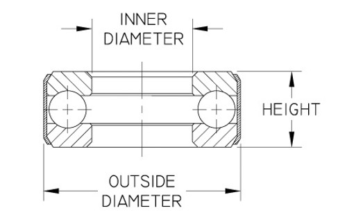 """D10 BANDED THRUST BEARING 1.063/"""""""