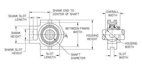 UCST204-20MM Tritan//BL Take Up Bearing Unit 20mm Shaft