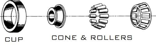 Timken 14124 Tapered Roller Bearing Single Cone
