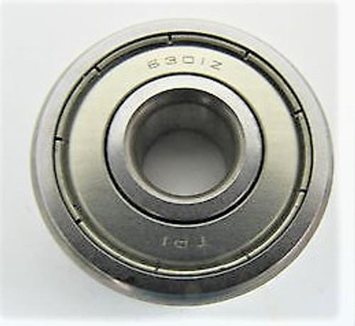 6302ZZ, TPI Single Row Ball Bearing, 15mm Bore