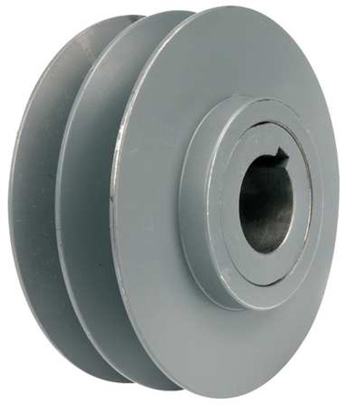 """Variable Pitch Pulley, 3/4"""" Bore, 2 Groove, 3.95"""" Diameter, 2VP42-3/4 Tritan"""