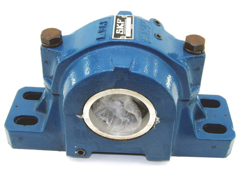 "SAFS222 SKF 4-Bolt Pillow Block, 4-15/16"" Shaft, Cast Steel Housing"