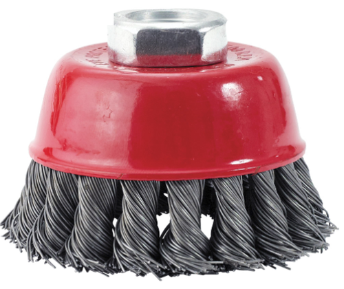 "Wire Cup Brushes, Knotted, Proferred C38100, 2-3/4"" Diameter"