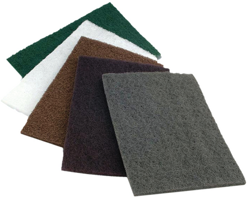 "Medium Abrasive Hand Pads, TAIPAN A20010, 6"" X 9"" Maroon Color"