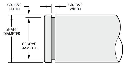 "Heavy Duty External Spirolox Ring for 3.5/"" Shaft SR WSM-350"