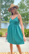 """Target Item #82150584 Women's Sleeveless French Terry Leisure Dress """"I am 5'9"""" and I wear a 34B bra size. I am 27"""" at the waist and 37"""" around the hips. this green summer dress is perfect. i feel like it makes me look tanner which i love about it. also it's so comfortable and flows on adorably. i paired it with a hat and brown sandals. great little dress to wear out for a date or anywhere. this will be a favorite of mine this summer.. This item does not have pockets. I received an incentive to write this review. Hope it helps you!"""" Shop this item at https://www.target.com/"""