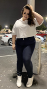 """Target Item #82102567 Women's Short Sleeve Boxy Cropped Polo T-Shirt """"I am 5'4"""" and I wear a 48F bra size. I am 40"""" at the waist and 50"""" around the hips. i love this white little crop top! being short waisted, a lot of the time crop tops are too long on me, but this one fits perfectly! i paired this with blue skinny jeans, and white sneakers, and later some white sandals. i could definitely picture this with high waisted leggings, or shorts and boots. the collar adds a cute preppy style to any outfit, while keeping the edginess from the crop top. i overall love this crop top!. This item does not have pockets. I received an incentive to write this review. But this is my honest review. Hope it helps!"""" Shop this item at https://www.target.com/"""