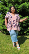 """Target Item #82172276 Women's Flutter Short Sleeve Top """"I am 5'6"""" and I wear a 48G bra size. I am 48"""" at the waist and 60"""" around the hips. this colorful top is so stunning. it looks so much better in person! soft and comfortable material. flows really nicely. it is very roomy in the arms and it has a tasseled tie string at the neckline. but i feel a bit oversized so i'll be sizing down and recommend the same. . This item does not have pockets. I received an incentive to write this review. But this is my honest review. Hope it helps!"""" Shop this item at https://www.target.com/"""
