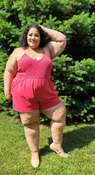 """Target Item #82144343 Women's Smocked Top Knit Romper  """"I am 5'6"""" and I wear a 48G bra size. I am 48"""" at the waist and 60"""" around the hips. i love the idea of this romper. i was really excited about it until i put it on. first it fits a little loose on the top but it fits small length wise so it feels like it's pulling up my body. i'll be getting a size up otherwise i might not feel comfortable wearing it and that'll probably elevate the issues i was having.. This item has pockets. I received an incentive to write this review. I hope this helps. Happy shopping!"""" Shop this item at https://www.target.com/"""