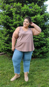 """Target Item #81448670 Women's Plus Size Essential Relaxed Tank Top """"I am 5'6"""" and I wear a 48G bra size. I am 48"""" at the waist and 60"""" around the hips. target is the best place to shop for your essential needs. i was really excited to see this taupe/brown color cami. it looked amazing against my skin coloring and is super soft and comfy. i highly recommend target for all you camisole and t-shirts. . This item does not have pockets. I received an incentive to write this review. Hope it helps you!"""" Shop this item at https://www.target.com/"""