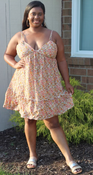 """Target Item #82144335 Women's Sleeveless Triangle Cup Breezy Dress """"I am 5'4"""" and I wear a 38D bra size. I am 38"""" at the waist and 45"""" around the hips. i absolutely love this light yellow floral dress! it's super fun and perfect for summer. i'd wear this to either the beach or a picnic date. overall it's a good fit. i'd say it's true to size.. This item does not have pockets. I received an incentive to write this review. But this is my honest review. Hope it helps!"""" Shop this item at https://www.target.com/"""