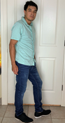 """Target Item #81958303 Men's Standard Fit Knit Short Sleeve Button-Down Shirt  """"I am 5'7"""" and I have a 36"""" chest. I am 29"""" at the waist and 36"""" around the hips. this is a new color for me and i have to say i do like it for a more grown up me. i like the softness of the material which makes it very comfortable. i would add this color to my wardrobe it's a very casual somber feeling when i have this shirt on. it was just a little bit loose i would like it a little tighter. but not too tight because it is a loose fit type of shirt.. This item has pockets. I received an incentive to write this review. I hope this helps. Happy shopping!"""" Shop this item at https://www.target.com/"""
