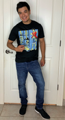 """Target Item #82567667 Men's Short Sleeve Graphic T-Shirt """"I am 5'7"""" and I have a 36"""" chest. I am 29"""" at the waist and 36"""" around the hips. another great anime shirt. i've bought a few from target this season. it fits right and makes a strong anime fan statement. the material is soft but the logo of the picture ruins the shirt from the inside. the art work feels like plastic on your body. material is breathable for hot days. this shirt is a conversational piece especially with one of the biggest anime mascots.. This item does not have pockets. I received an incentive to write this review. But this is my honest review. Hope it helps!"""" Shop this item at https://www.target.com/"""
