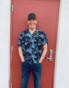 """Target Item #81624241 Men's Floral Print Button-Down Shirt. """"I am 6'4"""" and I have a 42"""" chest. I am 35"""" at the waist and 33"""" around the hips. This bright, Hawaiian inspired short-sleeve button up truly puts you in the summer mood. The floral and bird designs are intrinsic, detailed and vibrant. I could think of so many occasions to wear this shirt and be the best dressed guy in the joint. Aloha! This item has pockets. I received an incentive to write this review. Hope it helps you!"""" Shop this item at https://www.target.com/"""