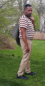 """Target Item #82676810 Men's Striped Short Sleeve T-Shirt  """"I am 6'1"""" and I have a 45"""" chest. I am 38"""" at the waist and 44"""" around the hips. this striped shirt is an awesome fit for me to enjoy the day when i go out and about around the town. it's fun to lounge around the home or at a friend's house. this shirt is so likable i know i will wear it many times. . This item does not have pockets. I received an incentive to write this review. But this is my honest review. Hope it helps!"""" Shop this item at https://www.target.com/"""