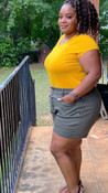"""Store Item #82172099 Women's Plus Size Shorts """"I am 5'6"""" and I wear a 38D bra size. I am 42"""" at the waist and 47"""" around the hips. these olive green shorts are cute but not for me. size 20w was slightly too big for my hips. the shorts don't have a zipper, instead it buttons down and that made my mid section look bulkier than usual which is why i am covering it with a long t-shirt. also, the length is different, not short, but not long either and i also didn't like that. however, the color is easy to dress. i put on a tshirt and sandals for a cookout but could have dressed them up also. overall, the buttons and length were not pleasant for me.. This item has pockets. I received an incentive to write this review. But this is my honest review. Hope it helps!"""" Shop this item at https://www.target.com/"""