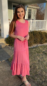 """Store Item #81868284 Women's Sleeveless Knit Dress """"I am 5'6"""" and I wear a 32C bra size. I am 26"""" at the waist and 38"""" around the hips. Pretty in pink...and comfy too. What a sweet summer dress. Light weight and soft to stay cool on a hot day. Love the scoop back and adjustable, flattering waist. So many ways and places to wear this one. Easy addition to my summer wardrobe for sure. This item does not have pockets. I received an incentive to write this review. But this is my honest review. Hope it helps!"""" Shop this item at https://www.target.com/"""