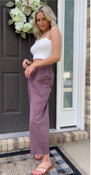 """Store Item #82444180 Women's High-Rise Relaxed Fit Pull-On Ankle Pants """"I am 5'9"""" and I wear a 34C bra size. I am 27"""" at the waist and 37"""" around the hips. love! i absolutely love everything about these pants! the color is perfect, the length is perfect for summer, the fit is great, everything is perfect! these pants are a must for this summer. you can dress them up or dress them down. This item has pockets. I received an incentive to write this review. I hope this helps. Happy shopping!""""  Shop this item at https://www.target.com/"""