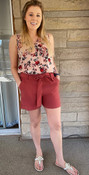 """Store Item #81792266 Women's High-Rise Tie Waist Shorts """"I am 5'6"""" and I wear a 34C bra size. I am 27"""" at the waist and 37"""" around the hips. These shorts are so cute! the length is perfect and not too short. The band around the waist ties and you can make them tighter or looser depending on the belt. The color is super cute and they have deep pockets! so cute for summer! This item has pockets. I received an incentive to write this review. I hope this helps. Happy shopping!"""" Shop this item at https://www.target.com/"""