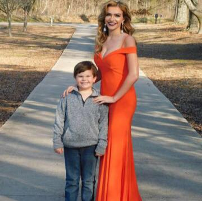 Emilee S. Right Orange Dress