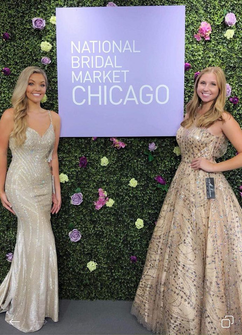 Isabella T.  on right at Chicago Mart August 2018