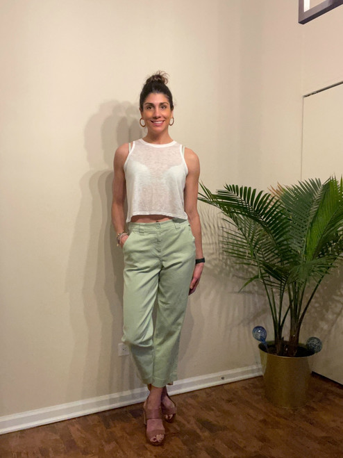 """Target Item #81792036 Women's High-Rise Straight Leg Ankle Pants  """"I am 5'8"""" and I wear a 36C bra size. I am 26"""" at the waist and 37"""" around the hips. These pants are really comfortable and are a cute addition to your spring wardrobe. They go great with a crop top and heels. Dress them up or down. Perfect for work or church as well as hanging out with friends. This item has pockets. I received an incentive to write this review. Hope it helps you!""""  Shop this item at https://www.target.com/"""