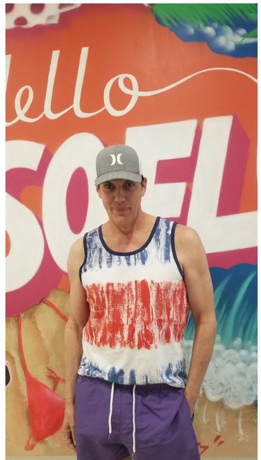 Target Item #82000794 Men's Casual Fit Americana Striped Knit Tank Top - Original Use™ Blue Shop this item at https://www.target.com/