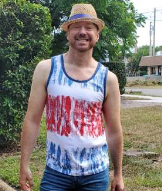 """Target Item #82000794 Men's Casual Fit Americana Striped Knit Tank Top  """"I am 6'0"""" and I have a 40"""" chest. I am 32"""" at the waist and 36"""" around the hips. i like the tie-dye kind of design with blue, red and white colors on this top. also, it is very tank is comfortable. i wish the arm holes were bigger, but it's made of super soft fabric. it's very snug and feels like it will be very durable.. This item does not have pockets. I received an incentive to write this review. I hope this helps. Happy shopping!"""" Shop this item at https://www.target.com/"""