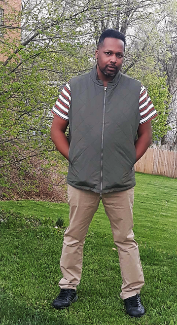"""Target Item #81397603 Men's Big & Tall Lightweight Quilted Puffer Vest  I am 6'1"""" and I have a 45"""" chest. I am 38"""" at the waist and 44"""" around the hips. this vest is warm in the winter or fall time. it's well made and it'll last me for a while. i styled it with a short sleeve shirt plus khaki color pants. i love wearing this outfit the most. it can be business casual or crew wear. this is an anytime outfit working or relaxing. . This item has pockets. I received an incentive to write this review. Hope it helps you! Shop this item at https://www.target.com/"""