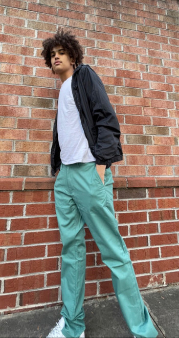 """Target Item #81960347 Men's Athletic Fit Hennepin Chino Pants  """"I am 6'7"""" and I have a 44"""" chest. I am 34"""" at the waist and 39"""" around the hips. if you want to try something different try these chinos in different colors. i really like this green color. not something i would normally go for but i have been trying something new and coming out of my comfort zone. style is nice and the fit is good. i could probably go down a size but these 36x36 aren't tight and leave some room to move. totally recommend the color. . This item has pockets. I received an incentive to write this review. I hope this helps. Happy shopping!"""" Shop this item at https://www.target.com/"""