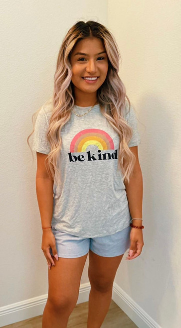 """Store item #82150328 Women's Short Sleeve Round Neck Graphic T-Shirt """"I am 5'3"""" and I wear a 32B bra size. I am 26"""" at the waist and 37"""" around the hips. let me tell you this is the softest most comfiest material for a t shirt. the design on it was so adorable and positive. i paired mine with comfy shorts for whenever i wanna just walk around the house in comfy clothes. you can also pair it with a nice dark denim jeans for a day of errands, you'll still feel comfy and cute at the same time.. This item does not have pockets. I received an incentive to write this review. I hope this helps. Happy shopping!"""" Shop this item at https://www.target.com/"""