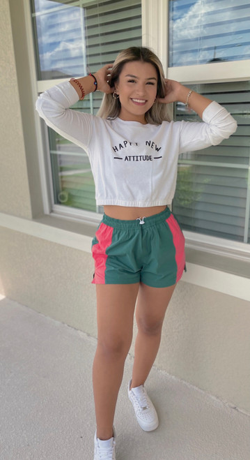 """Store Item #82149275 Women's High-Rise Trek Shorts """"I am 5'3"""" and I wear a 32B bra size. I am 26"""" at the waist and 37"""" around the hips. the cutest shorts every girl needs to have! very comfortable. the length isn't too short, perfect amount of coverage. i paired it with a cute white sweater and cute tennis shoes. i was going for a cute casual fit, for a day out at the park with my puppy. these colors are super easy to pair different pieces with. the only thing i would say is the string in the front was a bit annoying, it stuck out awkwardly but i just tucked it into my pants. great fit overall!. This item has pockets. I received an incentive to write this review. Hope it helps you!"""" Shop this item at https://www.target.com/"""