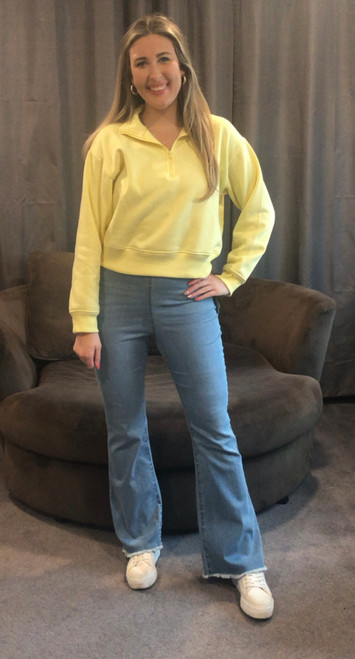 Store Item #81444883 Women's High-Rise Flare Denim Pants  Shop this item at https://www.target.com/  I received an incentive to write this review.