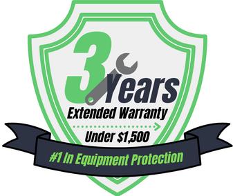 3 Year Warranty (Under $1,500)