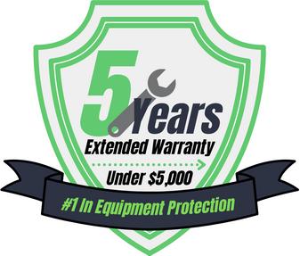 5 Year Warranty (Under $5,000)