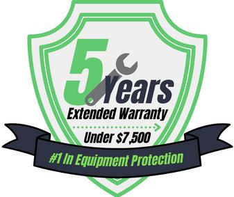 5 Year Warranty (Under $7,500)