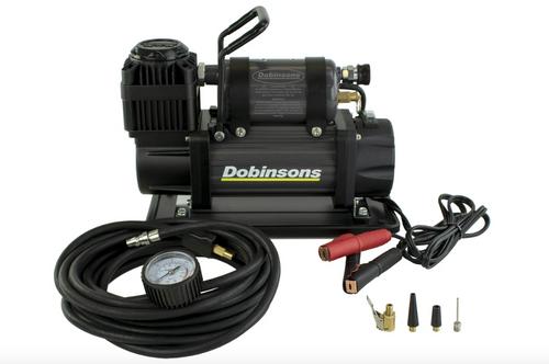 DOBINSONS 4×4 ZENITH PORTABLE 12V HIGH OUTPUT AIR COMPRESSOR KIT WITH BAG, HOSE AND GAUGE(AC80-3846)