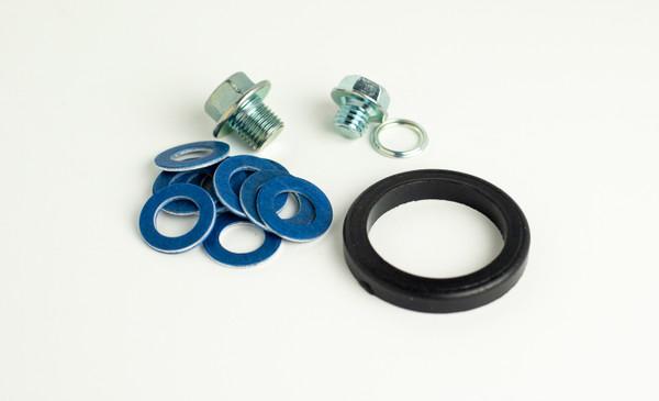 Oil Dusting Fixit Kit (oil cap seal, oil drain plug, tranny plug)