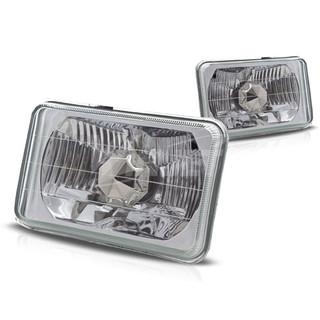 5 inch Rectangular Conversion Head Lights (W/Light Bulb) - Clear