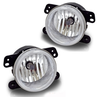 2007-2011 Jeep Wrangler Replacement Fog Lights - Clear