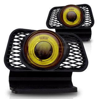 2002-2006 Chevrolet Avalanche Halo Projector Fog Light - Yellow