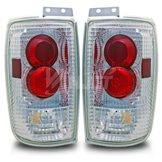 1997-2002 Ford Expedition Altezza Tail Light -(W/Halo) - Chrome/Clear