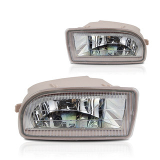 1998-2007 Toyota Land Cruiser Fog Lights - Wiring Kit Included - (Clear)